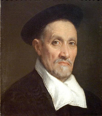 Bust Portrait Of A Magistrate Art Print by Giovanni Battista Moroni