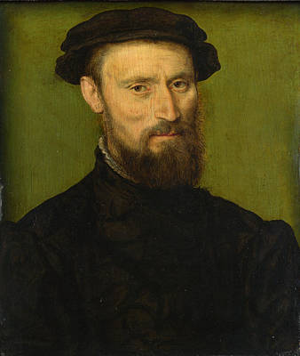 Painting - Bust Portrait Of A Man by Corneille de Lyon