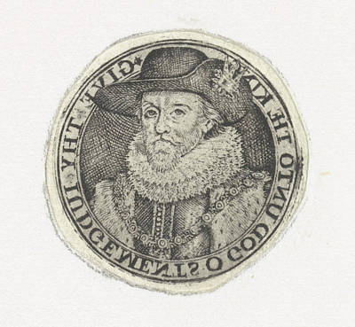 Bust Portrait Of James I, Simon Van De Passe Art Print