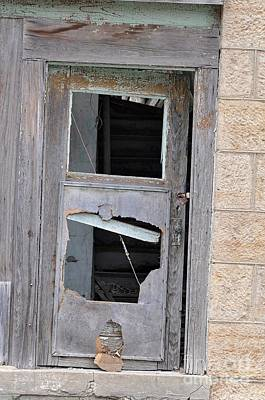 Photograph - Busted Abandoned Door by Liane Wright