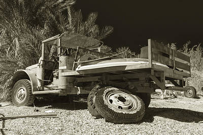 Busted Willys Mb Sepia Art Print