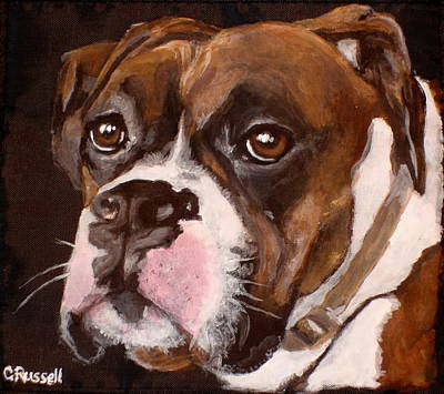 Dog Close-up Painting - Buster by Carol Russell