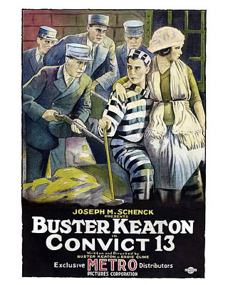 Convict Photograph - Buster Keaton In Convict 13  by Silver Screen