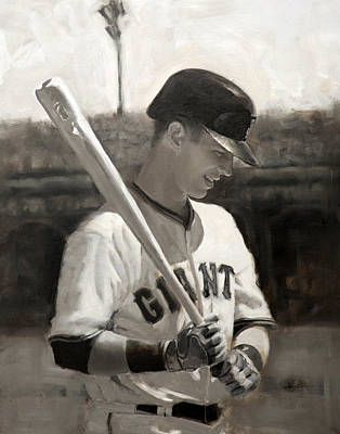 Baseball Painting - Buster Posey - Quiet Leader by Darren Kerr