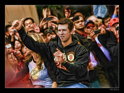 Photograph - Buster Posey World Series 2012 by Blake Richards