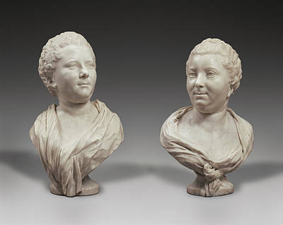 Busts Of Two Sisters Bust Of Mme. Brigitte François Art Print by Litz Collection