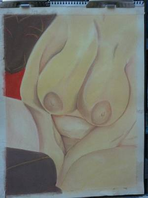 Busty Art Print by Dro Hall
