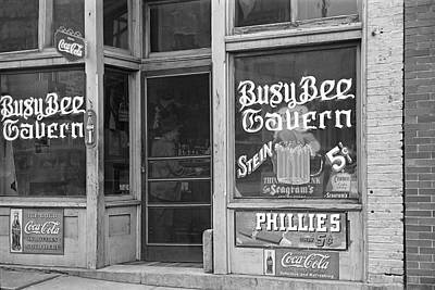 Stein Photograph - Busy Bee Tavern  1938 by Daniel Hagerman