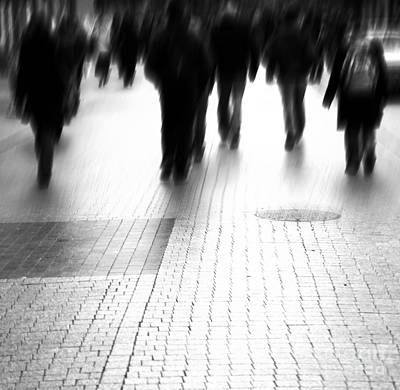 Crosswalk Photograph - Busy Big City Street by Michal Bednarek