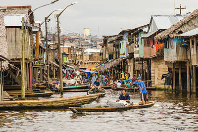 Photograph - Busy Busy In Shanty Town by Allen Sheffield