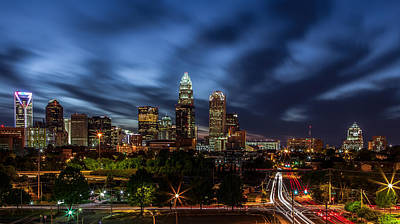Charlotte Skyline Photograph - Busy Charlotte Night by Chris Austin