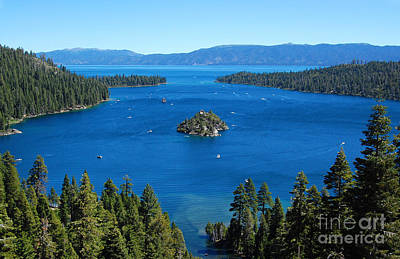 Photograph - Busy Emerald Bay by Debra Thompson