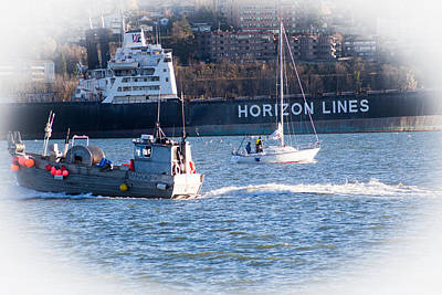 Busy Harbor Art Print