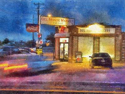 Busy Night At Del Monte Market Art Print
