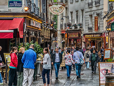 Paris Shop Digital Art - Busy Streets Of Paris by Sheldon Anderson