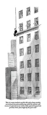 Ledge Drawing - But, Sir, Many Analysts Consider This Only by Carl Rose