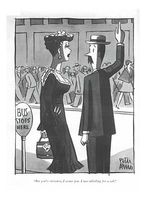 Drawing - But You're Mistaken by Peter Arno