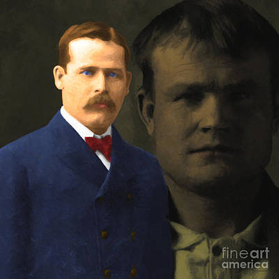 Butch Cassidy And The Sundance Kid 20130512 V5 Square Art Print by Wingsdomain Art and Photography