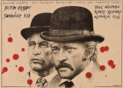Butch Cassidy And The Sundance Kid Art Print by Movie Poster Prints