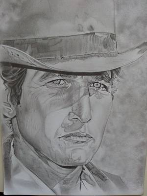 Butch Cassidy Drawing - 'butch'. by Paul Reeves