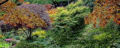 Digital Art - Butchart Gardens by Jim Pavelle