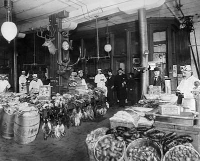 Bushel Photograph - Butcher Shop, C1900 by Granger