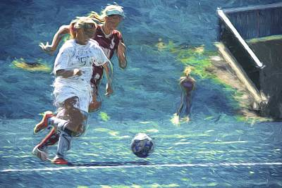 Photograph - Butler University Soccer Athlete Sophia Maccagnone Painted Digitally by David Haskett II