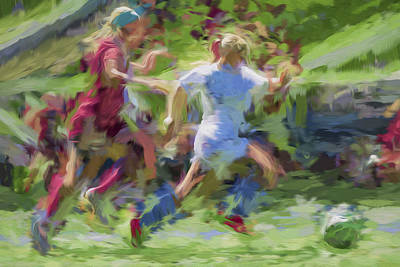 Photograph - Butler University Soccer Athletesophie Maccagnone Painted Digitally 3 by David Haskett
