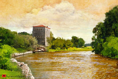 Albania Painting - Butrint by Catf