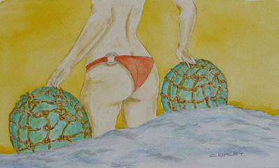 Bouys Painting - Butt And  Bouys by Charles  Daley
