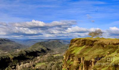 Butte Creek Canyon Overlook Art Print