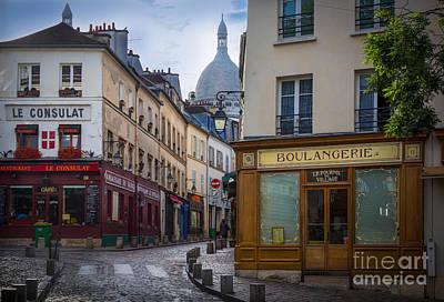 Streetlights Photograph - Butte De Montmartre by Inge Johnsson