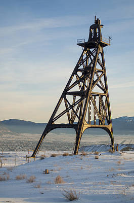 Photograph - Butte Headframe by Fran Riley
