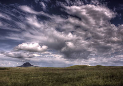 Butte In The Shadows Art Print by Michele Richter