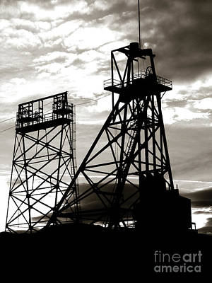 Butte Montana Headframe Art Print by David Bearden