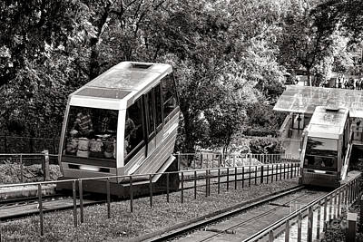 Butte Montmartre Funicular Art Print by Olivier Le Queinec