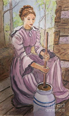 Painting - Butter Churner by Gretchen Allen