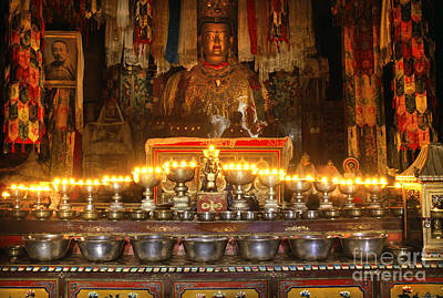 Photograph - Butter Lamps And Ghosts - Samye Tibet by Craig Lovell