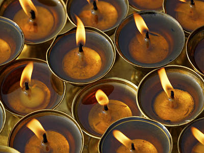 Butter Lamps Art Print