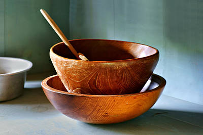 Butter Maker's Bowls Art Print by Nikolyn McDonald