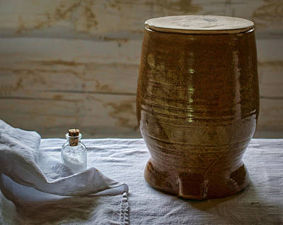 Crock Photograph - Butter Makers Crock And Salt by Nikolyn McDonald