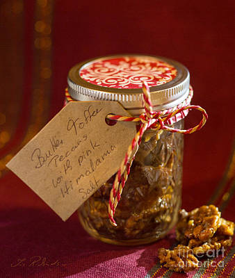 Toffee Photograph - Butter Toffee Pecan Nuts With Himalania Salt by Iris Richardson