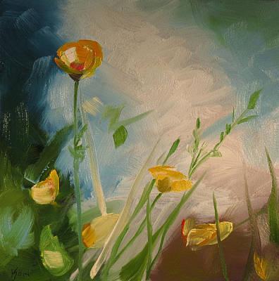 Comfort Painting - Buttercups by Kari Melen