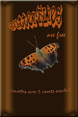 Butterflies Are Free Print by Larry Bishop