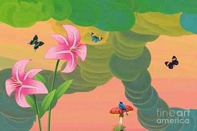 Digital Art - Butterflies Are Free by Liane Wright