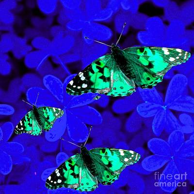 Painting - Butterflies Are Free To Fly #2 by Saundra Myles