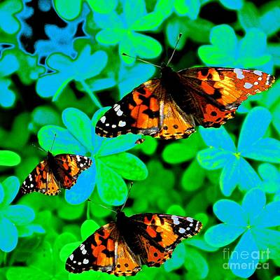 Painting - Butterflies Are Free To Fly #3 by Saundra Myles