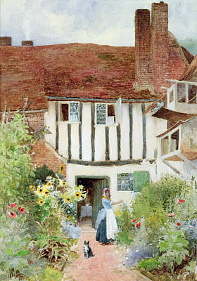 Charming Cottage Painting - Butterflies by Arthur Claude Strachan