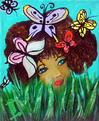Butterflies At Play Art Print by Ohso Faboolus