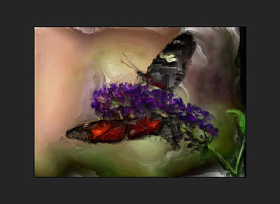 Butterflies At The Park Print by Kelly Gibson